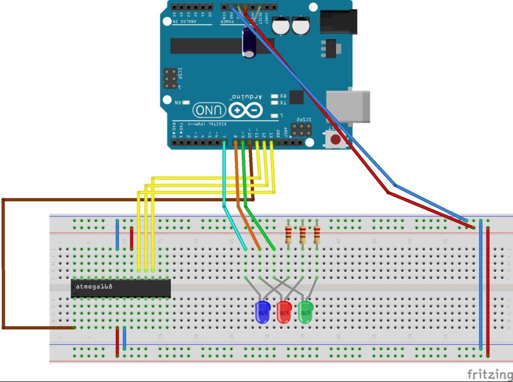 Arduino как ISP программатор