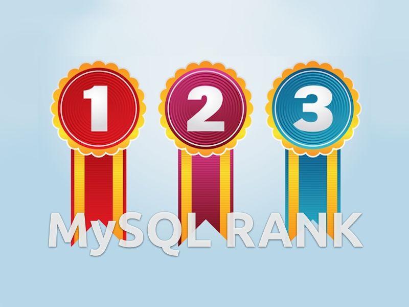 Обновить ранг записей таблицы MySQL UPDATE rank
