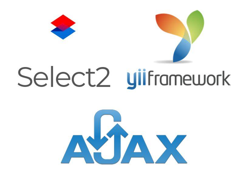 Select2 через Ajax на Yii2